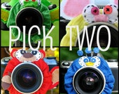 custom PICK TWO standard Lens Pets for your camera - Your Choice