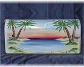 Painted Mailbox-Palm Trees