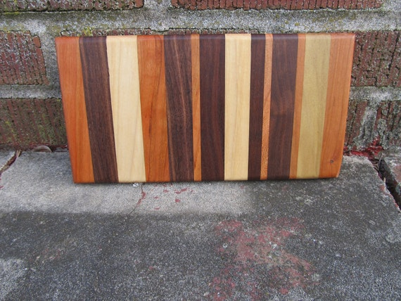 Cherry, Poplar and Black Walnut Thick Edge Grain Wood Cuttingboard reserved for Kim