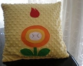RESERVED - Listing for moonbmz - Super Mario Fireflower Pillow