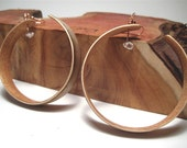 Wood Veneer Hoop Earrings