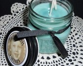 Vanilla Pine Cones -  8 oz Square Mason Jar Candle