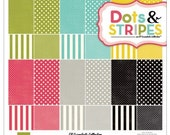 Echo Park 12 x 12 Scrapbooking Paper Pack Dots and Stripes Soda Fountain Collection Kit-Save 40%