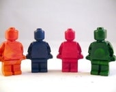 Recycled Crayon Lego Man Set of 4