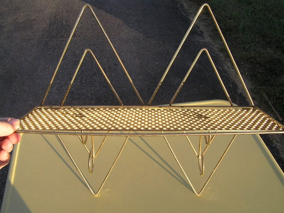 Retro Gold Metal Shelf from the 60's
