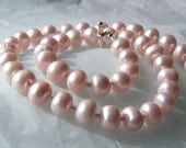 Perfectly Plump Pink Pearl necklace