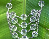 Crystal disc necklace