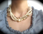 Pearl and Crystal Bridal Necklace Remaining balance reserved for Julie