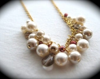 Customizable Bridesmaid Necklace - Your Colors