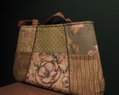 Green Quilted Tote