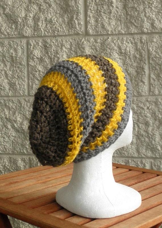 Slouch Hippie Hat , Beanie , Striped  Hat , Fashion , Unisex , Fall Fashion Autumn  Accessories