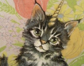 KittyCorn -- Original 11x14 painting