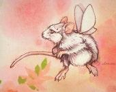 MouseMoth-- Original 8x10 painting