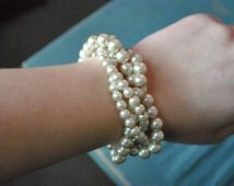 Champagne Pearl Twist Bracelet-Made to order