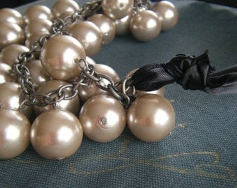 Champagne Pearl Black Tie-made to order