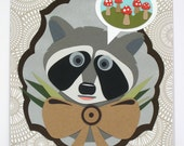 RESERVED for Jonathon - Dreaming of Home 3 (raccoon)