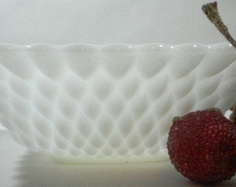 Vintage Milk Glass Square Candy Dish