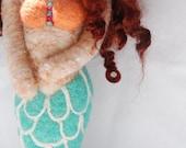 Needle Felted Wool Mermaid Doll