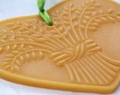 Beeswax Heart Shaped Window Impression Bountiful Harvest Wheat