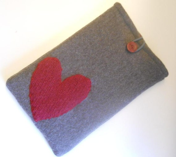 Felted Recycled Wool Case Cover for Kindle, Kindle Fire, Nook e-reader