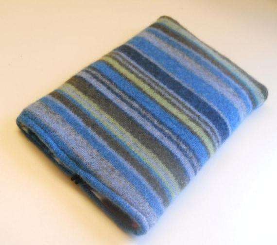 Striped Felted Wool Case for Kindle, Nook, Kindle Fire, eReader