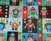 Gearheads Robots Fabric 1 Yard