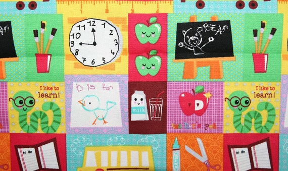 Custom Listing for Rachel School is Fun Fabric 2 Yards