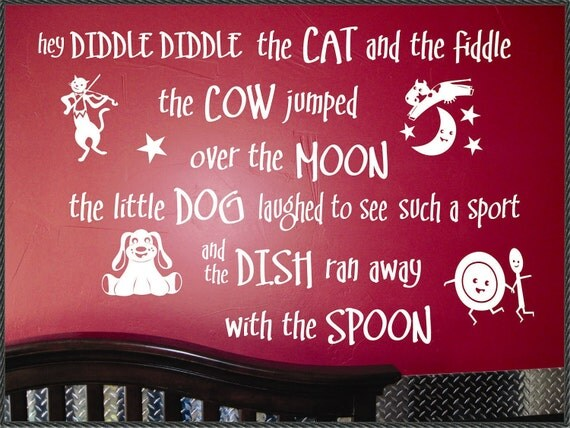 Hey Diddle Diddle Wall Decal by WallsThatTalk