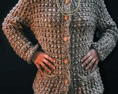 SALE - Vintage 1980's Oversized Cable Knit Sweater