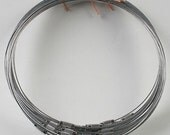 200pcs 1.0mm 18 inch silver stainless steel wire