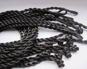 200pcs 18-20 inch 3mm black twist silk necklace cord