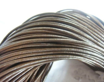 50pcs 2.5mm 17-19 inch adjustable brown genuine/real leather necklace cord