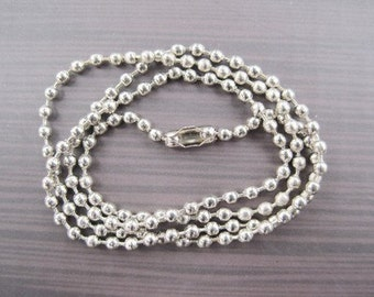 15pcs 2.4mm 18 inch silver ball necklace chain with matching connector