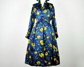 reserved.  SALE.  vintage dress- 1950's luxe ITALIAN SILK