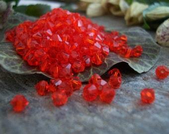 Czech Crystal Beads Bicone 4mm Hyacinth (100pcs)