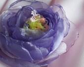 Purple-lilac broch,organza,pink,satin,tulle