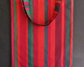 """Large MARIMEKKO tote, shopping bag in authentic fabric from Finland called """"Happy"""" """"Onnellinen"""", Handmade certified"""
