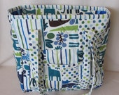 CUSTOM diaper bag, Personalized tote, Patchwork quilted diaper bag in 2D zoo,  changing pad included, Handmade Certified