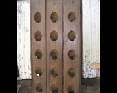Vintage French Wooden Riddling Rack - Wood Champagne Rack - Wine Bottle Holder - From Wine Cellars in France - Funky Table or Countertop Display