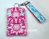 Paganelli Aqua & Hot Pink Phone Case with Wristlet