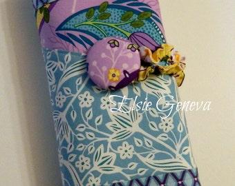 Purple, Yellow and Blue Knitpicks Interchangeable Knitting Needle Organizer