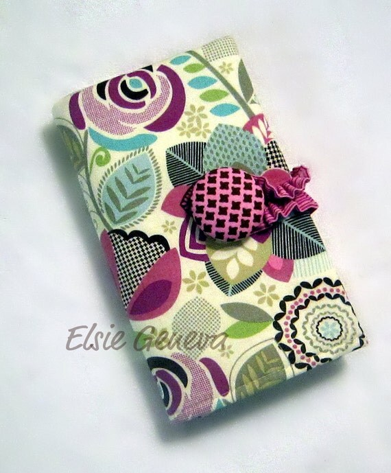 Chelsea Crochet Hook or Project Needle Case Organizer Button Closure Zipper Pocket