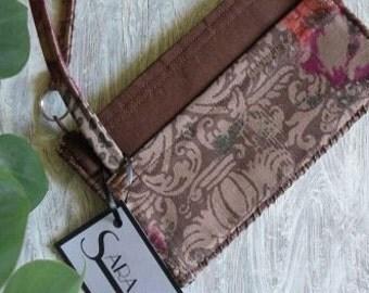 Wristlet-Brown Floral Print