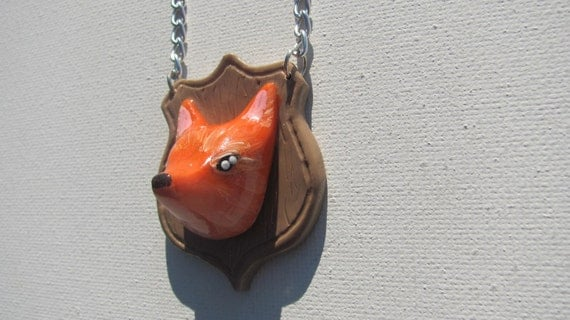 CLEARANCE Faux taxidermy fox