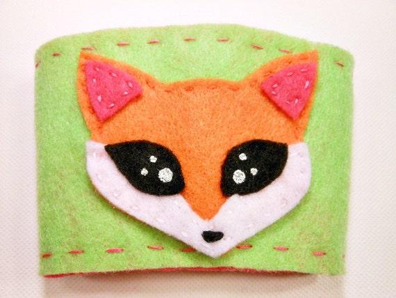 fox coffee sleeve