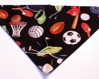 Dog Bandana Sports, Football, Basketball, Baseball, Tennis, Golf
