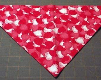Airbrushed Hearts Handmade Dog Bandana Valentine