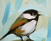 chickadee no. 79 original painting by moulton 5 x 5 inch