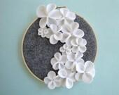 White Cascading Flower Wall Art