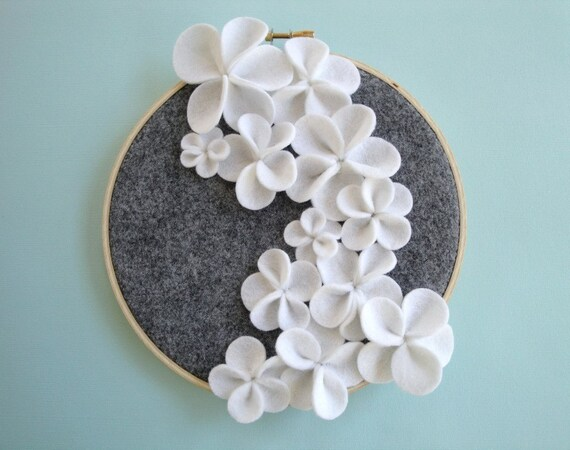 White Cascading Flower Wall Art